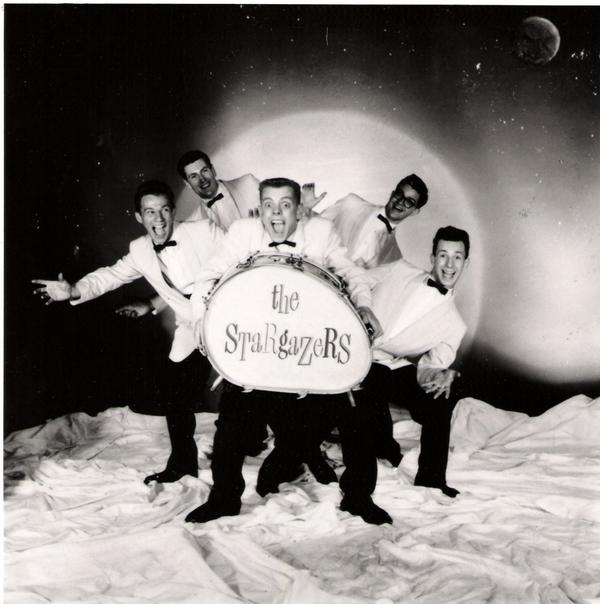 Early publicity shot with Ricky's distinctive bass drum