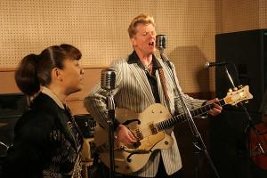 Dibbs in studio with Conny