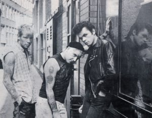 The Meteors circa 1983 (Steve Meadham, Paul Fenech, Rick Ross)
