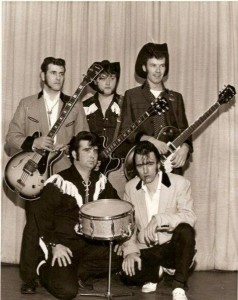 Crazy Cavan and the Rhythm Rockers: Don Kinsella (bass), Terry Walley (guitar), Lyndon Needs (guitar), Mike Coffey (drums) and Cavan Grogan (vocals).